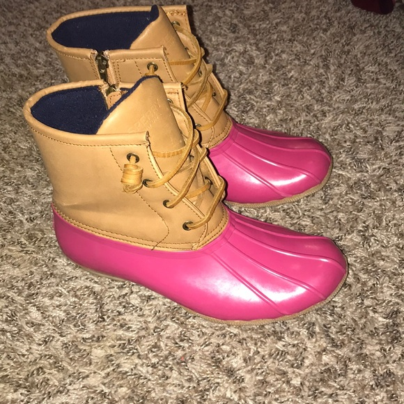 Sperry Shoes | Sperry Duck Boots Pink